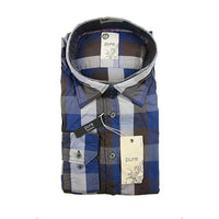 Pure H.Tico brown blue check long sleeve shirt size XL RRP80 G17