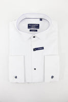 Hunt and Holditch white long sleeve dress shirt size 42cm RRP55 FR02