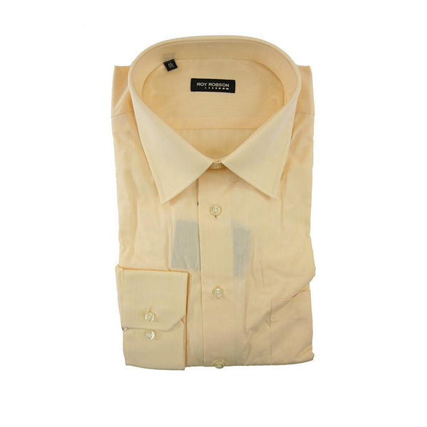 Roy Robson peach long sleeve shirt size 38 RRP60 G05