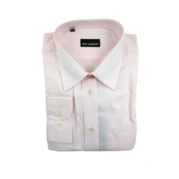 Roy Robson light pink long sleeve shirt size 44 RRP80 G14