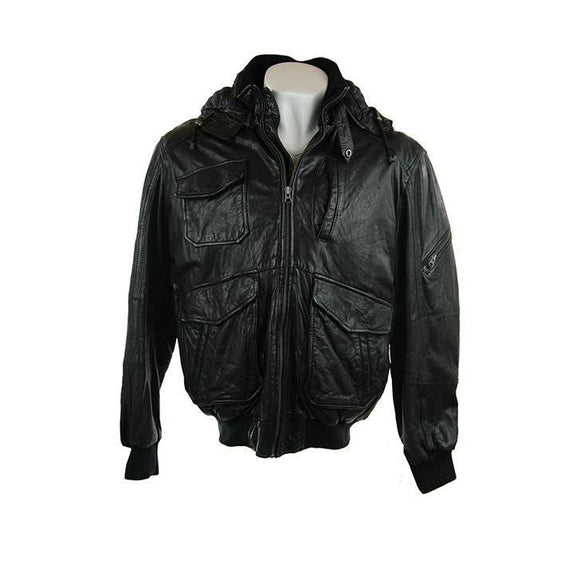 ItalloÌÎ_black lambs leather jacket size54 RRP500