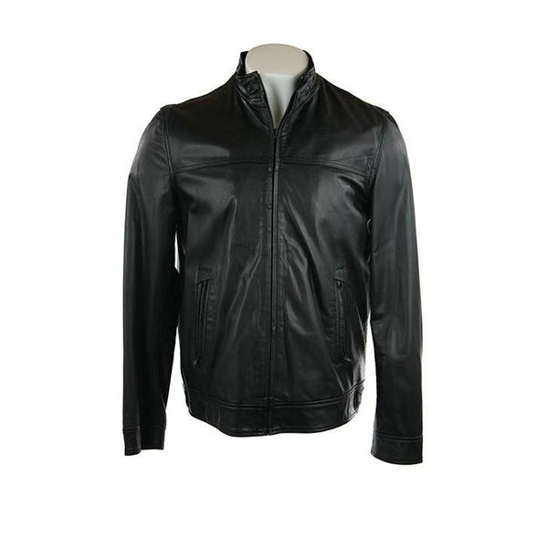 Ashwood luxury black fine leather jacket size L RRP400