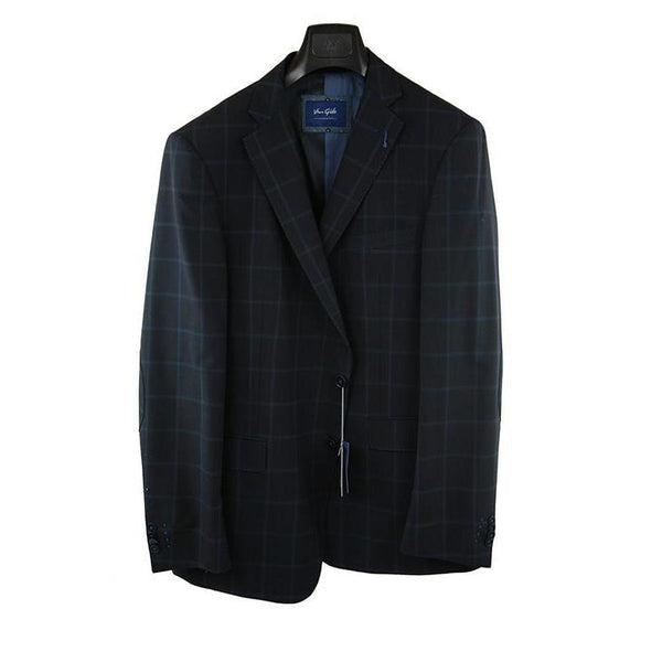 Van Gils Dark blue check suit jacket size 38R RRP250 GA01