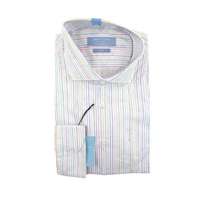 Profuomo long sleeve multi colour stripe shirt size 44 RRP80 G22