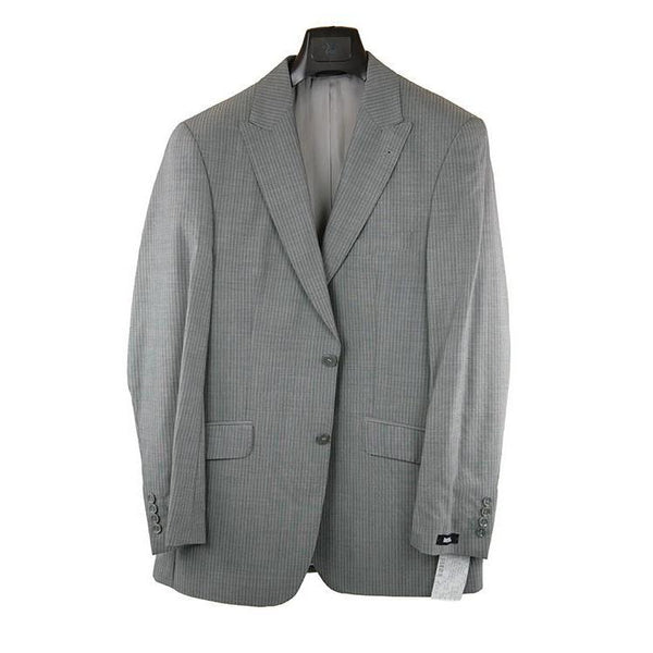 Laffitte Mid grey suit with fine stripe size 50 RRP250 GA04
