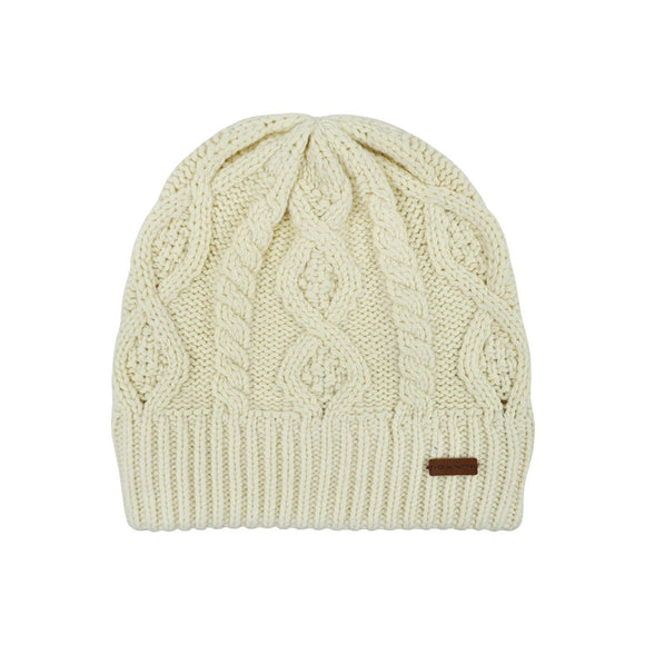 Gant cream cable knit beanie hat one size RRP40 HED2