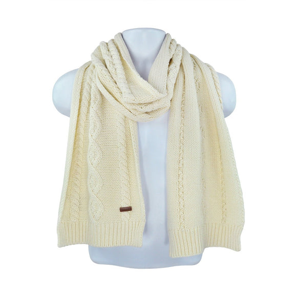 Gant cream cable knit scarf one size RRP60 HED2