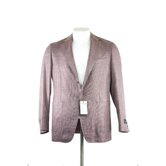 Canali Textured Light Purple Jacket Size 54 RRP1319