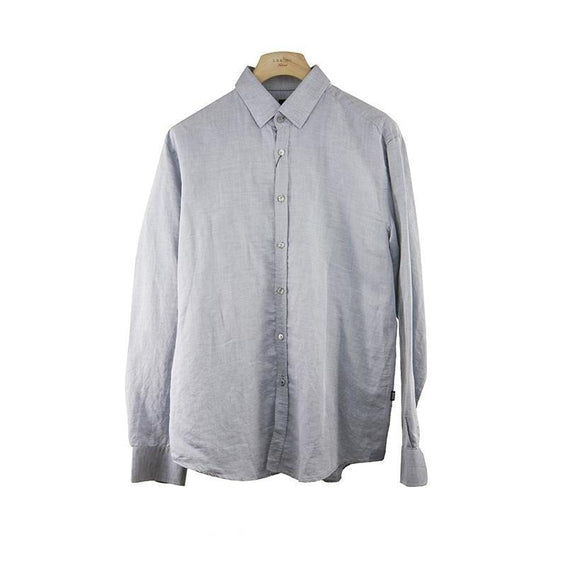 Hugo Boss Grey Tailored Fit Long Sleeve Shirt Size XXL RRP169