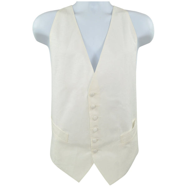 Cream non branded waistcoat with elastic back fastening size M RRP30 PO21