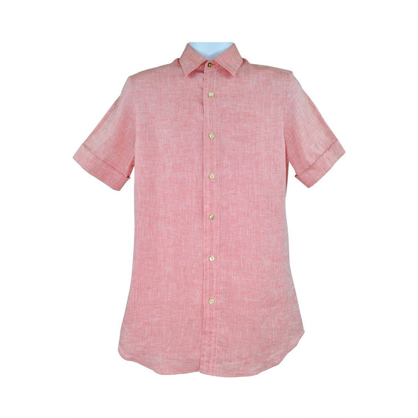 Paul Smith salmon pink short sleeve shirt S RRP195 PO31