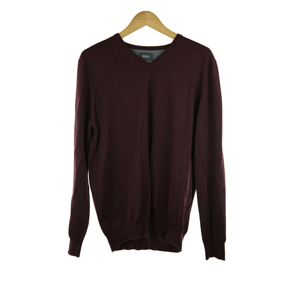 Brax burgundy long-sleeve jumper size 52 RRP100 PO32