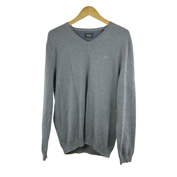 Brax grey long-sleeve jumper size 52  RRP100 PO32