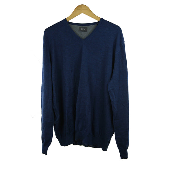 Brax dark blue long-sleeve jumper size 56 RRP80 PO32