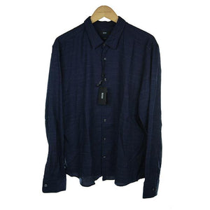 Hugo Boss mid blue long sleeve shirt size M RRP130 PO34
