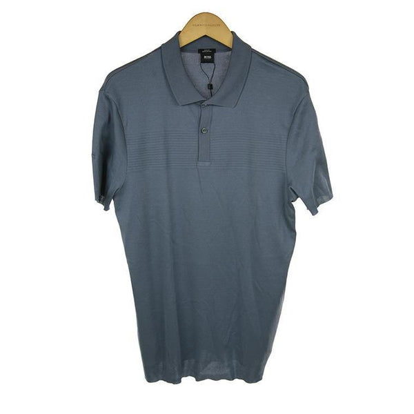 Hugo Boss mid Grey short sleeve polo top M RRP150 PO34