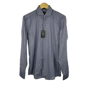 Hugo Boss blue long sleeve shirt size 39 RRP150 PO37