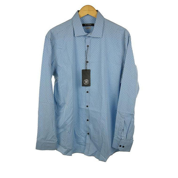 Roy Robson blue long sleeve shirt size 44 RRP70 PO37