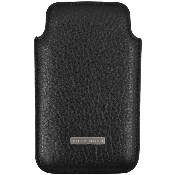 Hugo Boss leather black phone wallet case RRP100