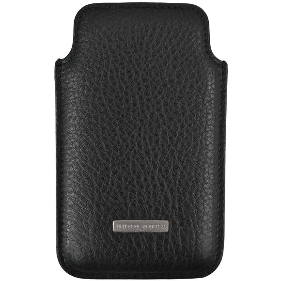 Hugo Boss black leather phone wallet case RRP100