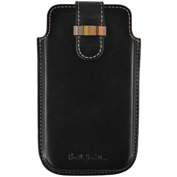 Paul Smith black leather phone case RRP125
