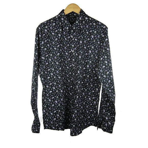Paul Smith black floral long sleeve shirt size 39 RRP145 PO39