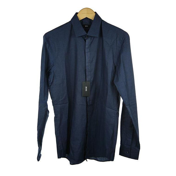 Hugo Boss Navy long sleeve shirt size 39 RRP125 PO42