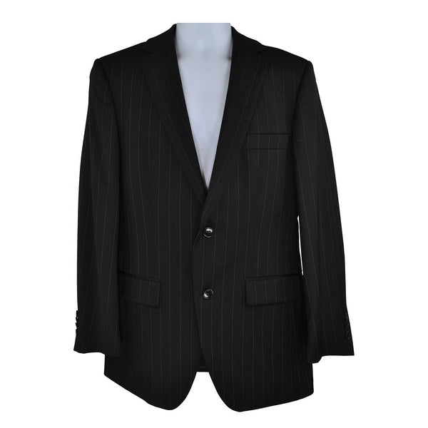 Pockets branded black pinstripe suit size 46 RRP150 POR