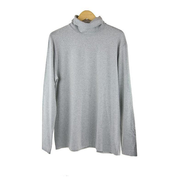 Circolo light grey long-sleeve roll neck top size XXL RRP90 P109