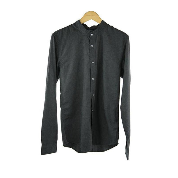 Scotch and soda dark grey long sleeve shirt size M RRP 100 P109