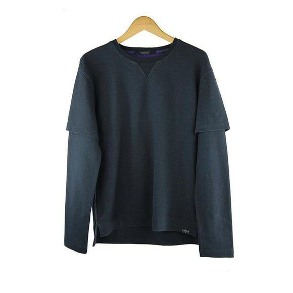 Scotch and soda dark blue long-sleeve sweat top size S RRP 110  P111