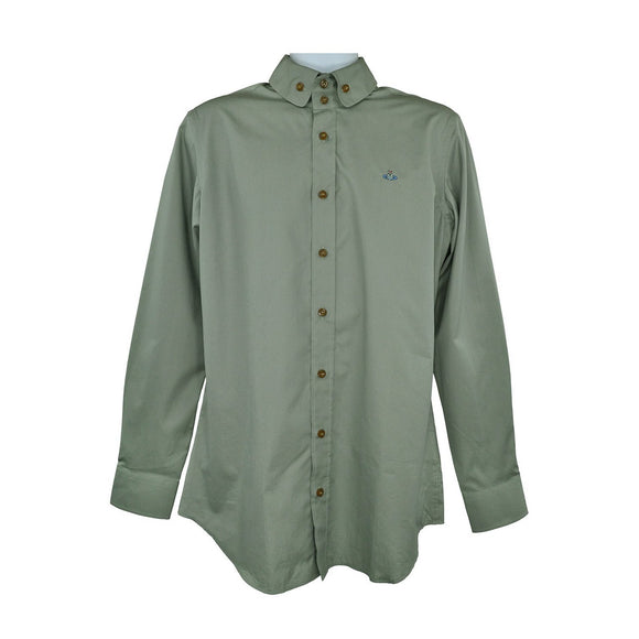 Vivienne Westwood Green long sleeve shirt size 42 RRP195 PU202