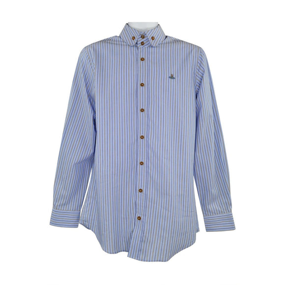 Vivienne Westwood light blue striped long sleeve shirt 42 RRP270 PU202