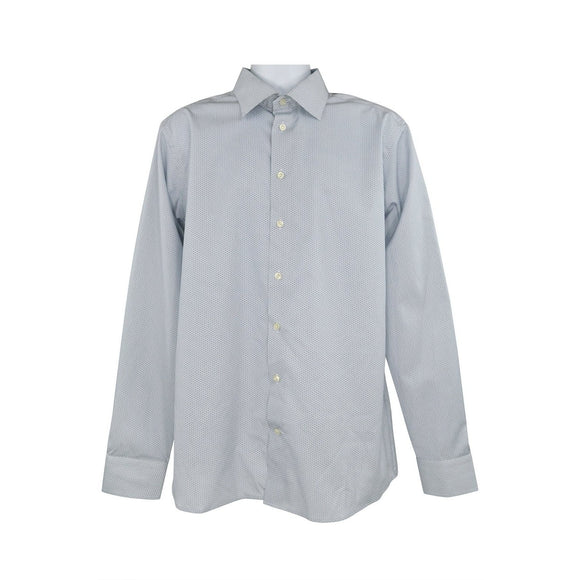 Eton light blue pattern long sleeve shirt size XL RRP140