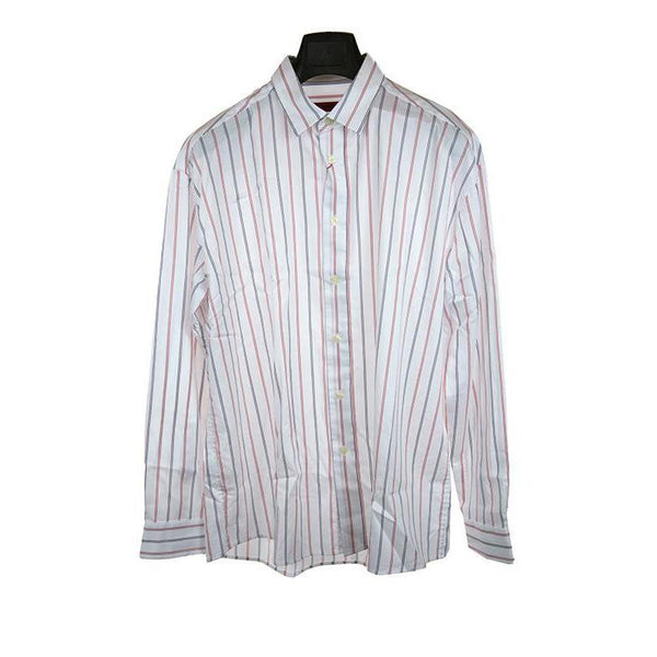Hugo Boss white striped long sleeve shirt size M RRP85 PU115