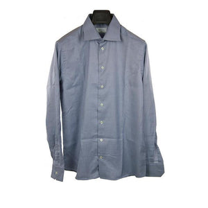 Eton Light blue pattern long sleeve shirt size 42 RRP150 PU115
