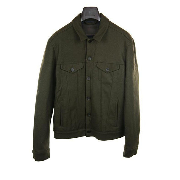 Altea Dark green jacket size L RRP430 PU117