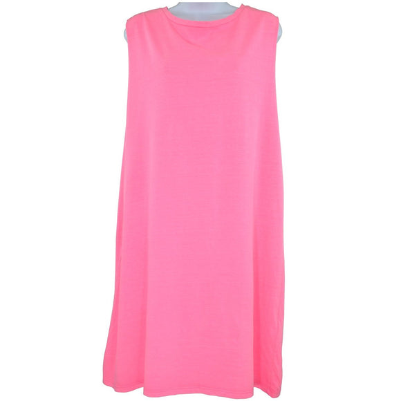 H and M Divided pink sleeveless tunic top size L RRP25 SHD01