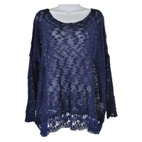QED London womens Royal blue long sleeve knitted top size SM RRP 40 SHAD05
