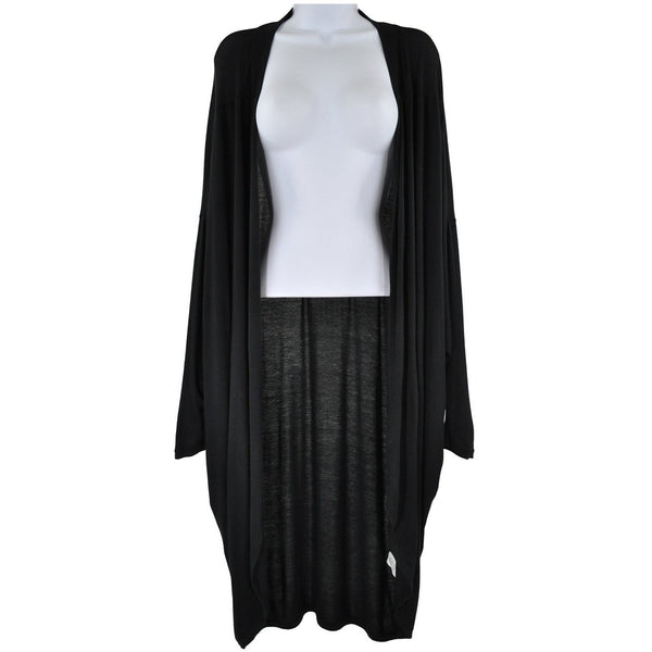 Acemi womens black Lightweight long sleeve long cardigan one size RRP 40 SHAD05
