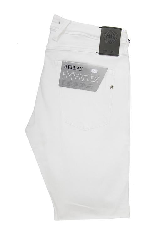 Replay white denim jeans hyperflex W32 L32 RRP125 UN19