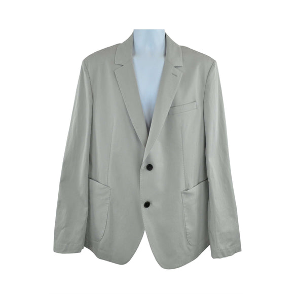 Aquascutum Light Grey Teddy Twill Jacket Size XXL RRP355 DRA