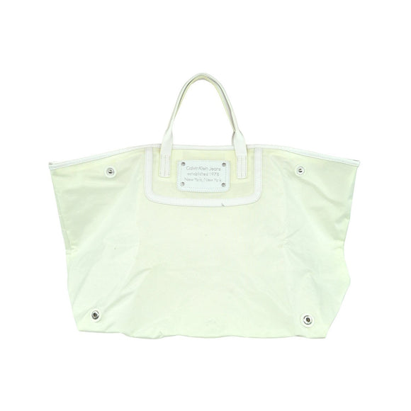 Calvin Klein Cream Foldable Beach Bag, please note there are some grubby marks o