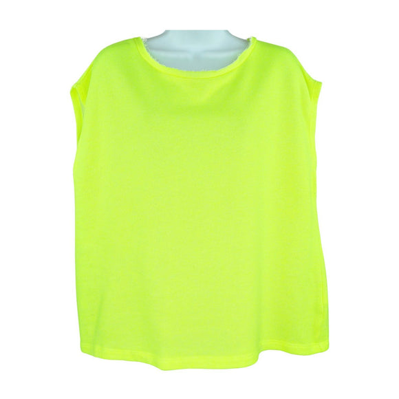 United Colors of Benetton womens day glo green top S RRP40