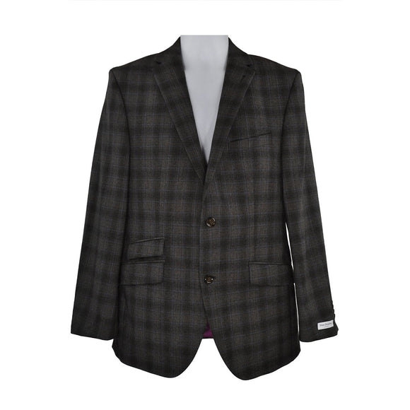 Without Prejudice brown check suit size 40 RRP460 RETA