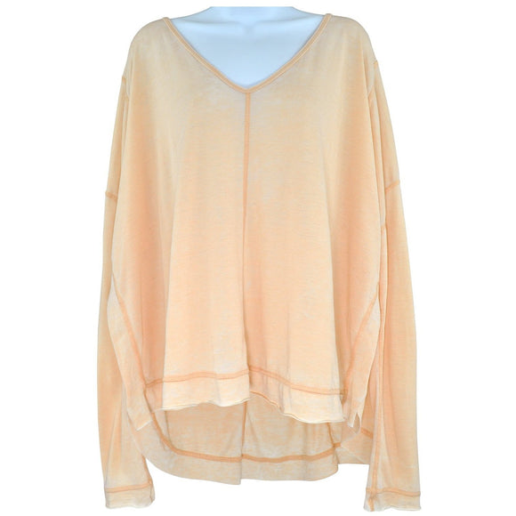 We The Free peach long sleeve top size L RRP50 SH09