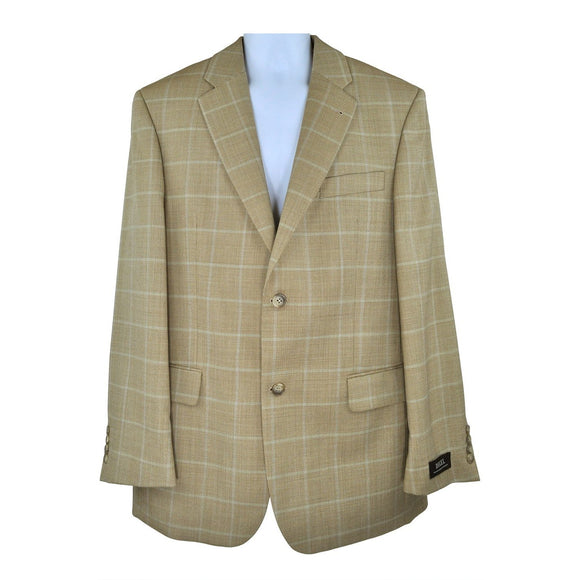 Digel Orange check suit jacket size 40R RRP250 GR3