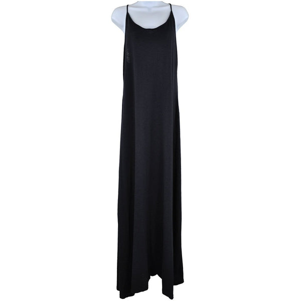 H and M black strappy long maxi dress L RRP40 SH09