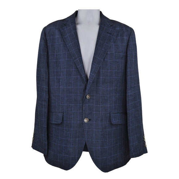 Hackett mid blue suit jacket size 42R RRP360 DAR240