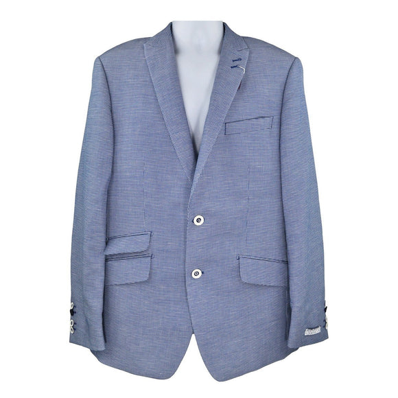 Without Prejudice buckley blue check suit jacket size 41 RRP310 DAR240